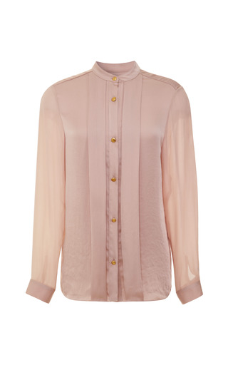 Medium tome pink pleat front blouse