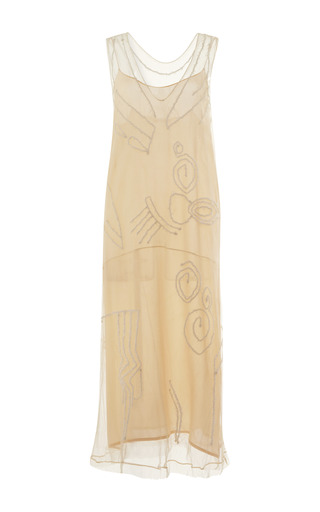 Medium tome white embroidered tulle dress