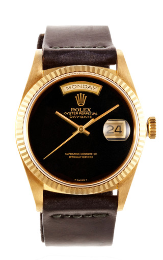 Rolex 18 K Yellow Gold Day Date President With Black Onyx Dial by CMT FINE WATCH AND JEWELRY ADVISORS Now Available on Moda Operandi