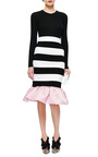 Kymi Ruffle Hem Striped Jersey Skirt by MOTHER OF PEARL Now Available on Moda Operandi