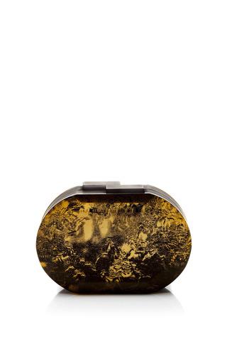 Medium rauwolf gold oval cut gemstone clutch
