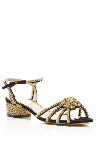 It's Knot You, It's Me Knotted Rope Leather Sandals by CHARLOTTE OLYMPIA Now Available on Moda Operandi