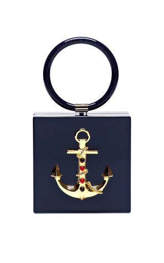Cast Away Perspex Clutch by CHARLOTTE OLYMPIA Now Available on Moda Operandi