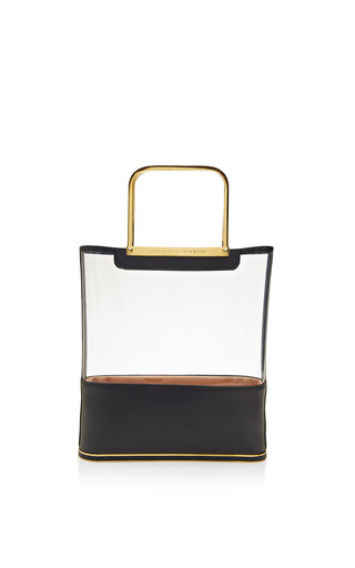 Island Shopper Mini Pvc And Leather Tote Bag by CHARLOTTE OLYMPIA Now Available on Moda Operandi