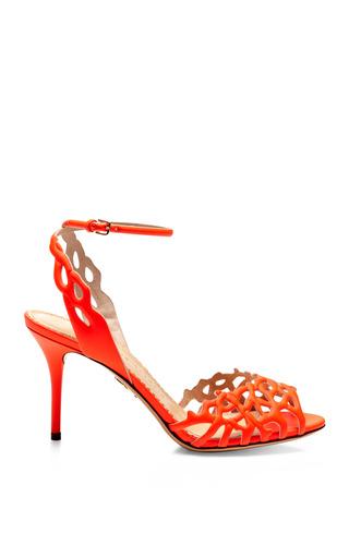 Medium charlotte olympia orange coralena cutout leather sandals