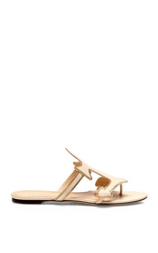 Medium charlotte olympia white atlantic leather sandals