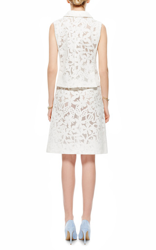 Jersey Jacquard Devoré Vest by ROCHAS Now Available on Moda Operandi