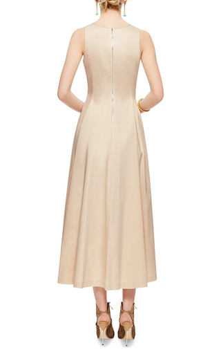Stretch Cotton Midi Dress by ROCHAS Now Available on Moda Operandi