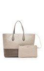M'o Exclusive: Two Tone Textured Leather Tote by ROCHAS Now Available on Moda Operandi