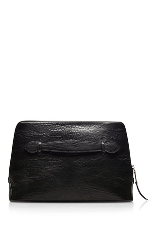 Textured Leather Zip Top Clutch by ROCHAS Now Available on Moda Operandi