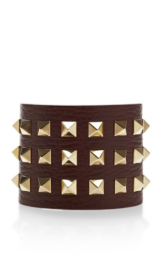 Medium valentino multi studded leather cuff bracelet