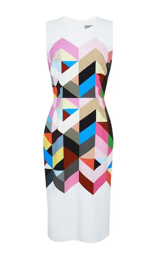 Medium preen multi issy printed crepe dress
