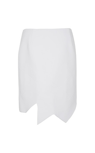 Medium preen white aero quilted crepe skirt