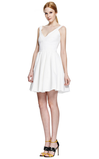 Flora Stretch Crepe V Neck Dress by PREEN BY THORNTON BREGAZZI Now Available on Moda Operandi