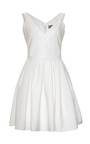 Flora Stretch Crepe V Neck Dress by PREEN BY THORNTON BREGAZZI Now Available on Moda Operandi