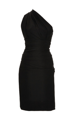 Medium preen black plaza stretch crepe dress