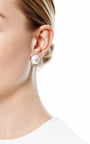 Certain Ratio Faux Pearl And Crystal Earrings by TOM BINNS Now Available on Moda Operandi