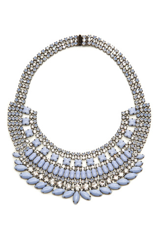 Medium tom binns blue neopolitano crystal and stone necklace 2