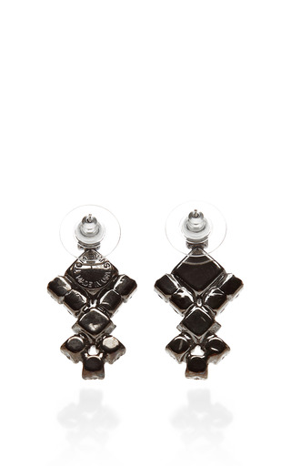 Neopolitano Geometric Drop Earrings by TOM BINNS Now Available on Moda Operandi