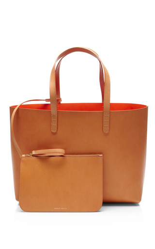 Small Raw Interior Leather Tote by MANSUR GAVRIEL Now Available on Moda Operandi