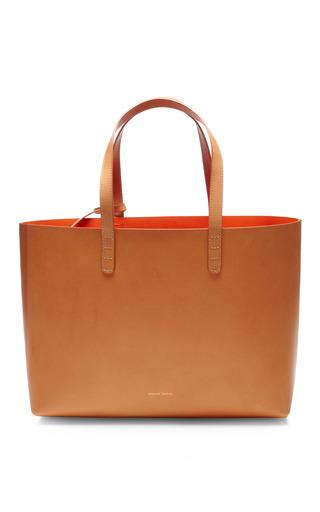Medium mansur gavriel orange small raw interior leather tote
