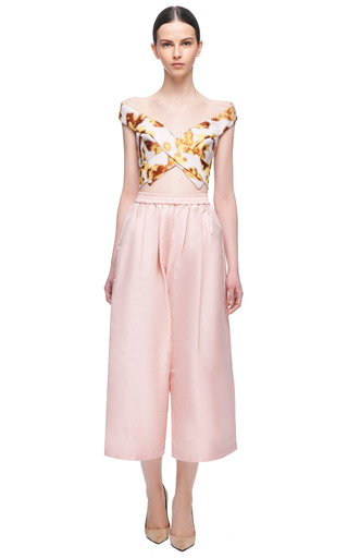 Off The Shoulder Jacuard Corset by JOSH GOOT Now Available on Moda Operandi