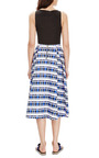 Printed Pleated Cotton Skirt by SUNO Now Available on Moda Operandi