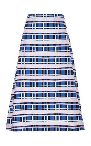Medium suno multi printed pleated cotton skirt