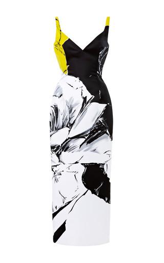 Medium prabal gurung print rose print satin pencil dress