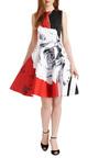 Rose Print Flared Satin Dress by PRABAL GURUNG Now Available on Moda Operandi