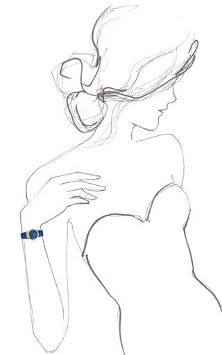 """""""Grande Maison"""" Watch In Blue/Gold by SALVATORE FERRAGAMO for Preorder on Moda Operandi"""