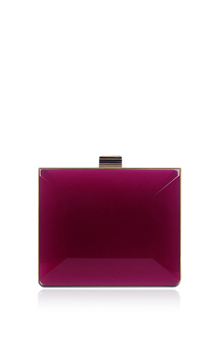Medium salvatore ferragamo fuchsia dolly minaudiere in deep fuchsia