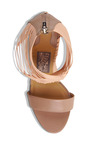 Pulcket Sandal In Beige Quartz by SALVATORE FERRAGAMO for Preorder on Moda Operandi