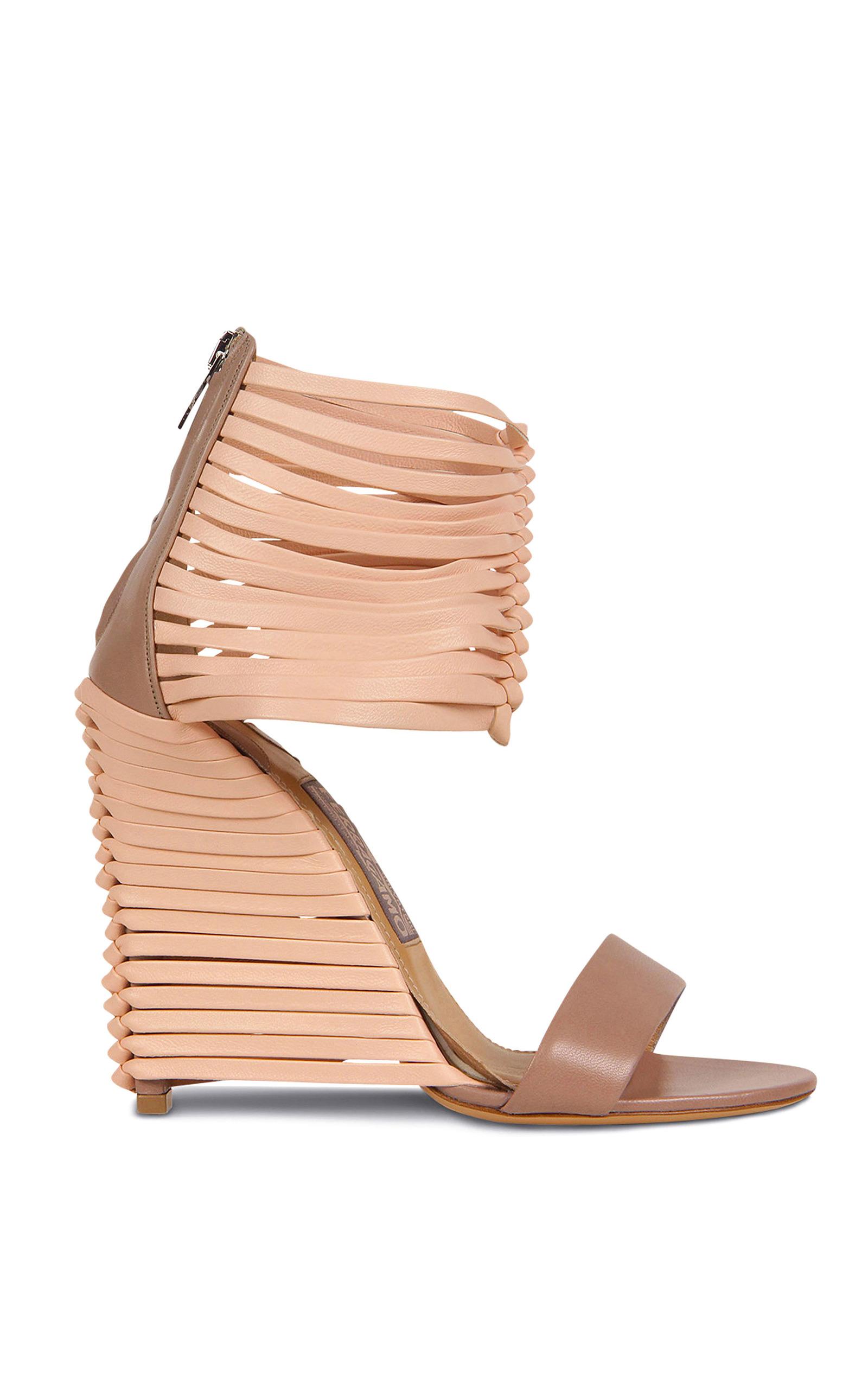 b7a57571ca23 Pulcket Sandal In Beige Quartz by Salvatore Ferragamo