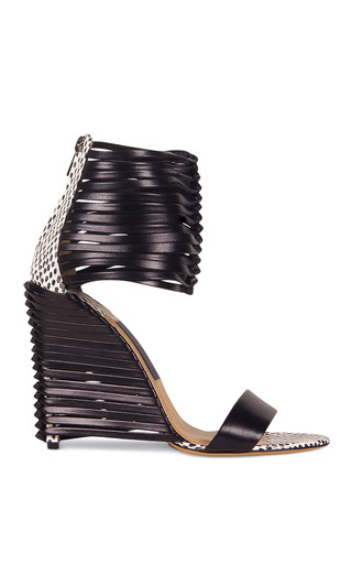Pulcket Sandal In Black by SALVATORE FERRAGAMO for Preorder on Moda Operandi