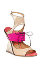 Paz Sandal In Bisque by SALVATORE FERRAGAMO for Preorder on Moda Operandi