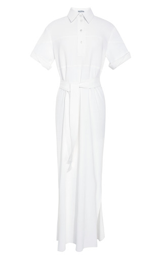 Medium rosie assoulin white full length shirt dress