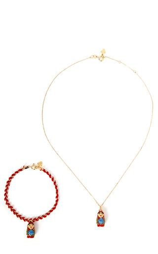 Medium gag lou red matrioshka duo bracelet necklace 2