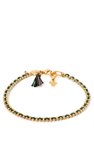 Gold Plated Pom Pom Bracelet by GAG & LOU Now Available on Moda Operandi