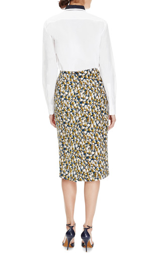 Printed Silk Crepe Skirt by MARNI Now Available on Moda Operandi