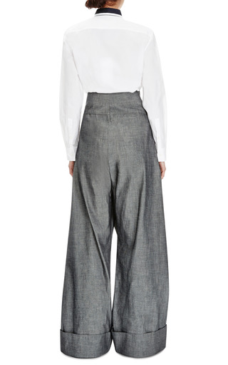 Cotton Twill Trousers by MARNI Now Available on Moda Operandi