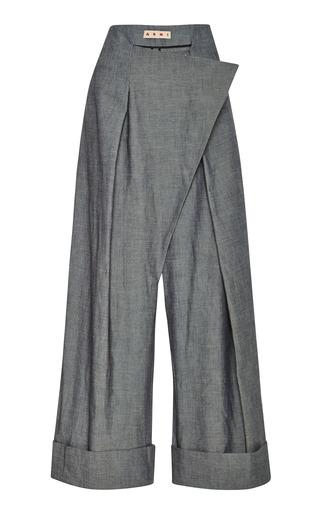 Medium marni light grey cotton twill trousers