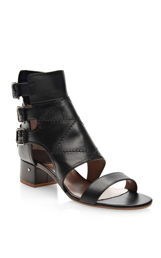 Flo Triple Buckle Leather Sandals by LAURENCE DACADE Now Available on Moda Operandi