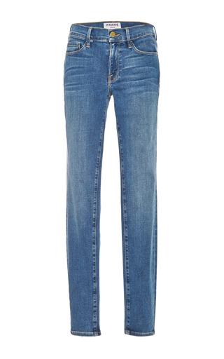 Medium frame denim blue le skinny de jeanne jeans