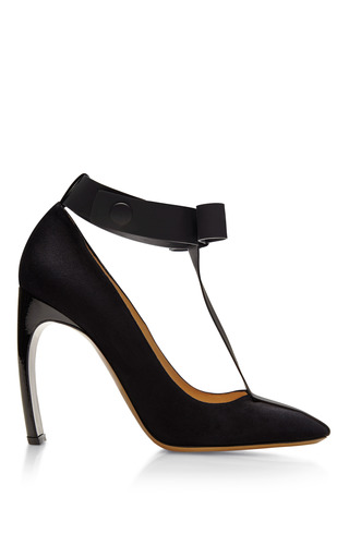 + Roksanda Ilincic Suede And Patent Leather Mary Jane Bow Pumps by NICHOLAS KIRKWOOD Now Available on Moda Operandi