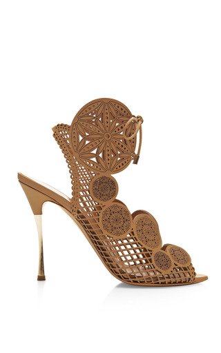 Laser Cut Leather Sandals by NICHOLAS KIRKWOOD Now Available on Moda Operandi