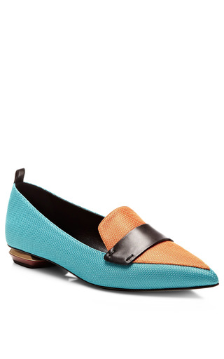 Mesh Leather Loafers by NICHOLAS KIRKWOOD Now Available on Moda Operandi