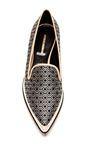 Leather And Jacquard Pointed Toe Loafers by NICHOLAS KIRKWOOD Now Available on Moda Operandi