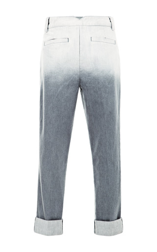 Dip Dyed Denim Pleated Pants by TIBI for Preorder on Moda Operandi