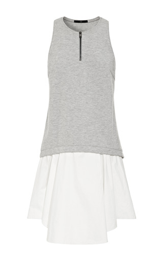 Medium tibi multi heather grey italian ponte tank dress